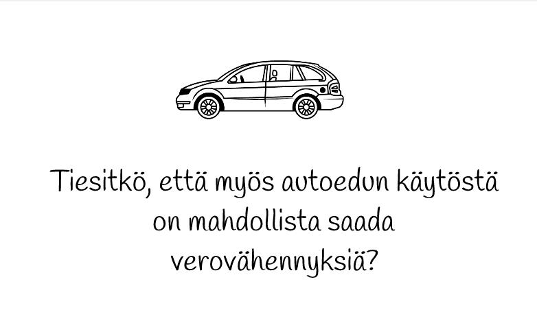 Autoetu ja verovähennykset